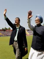 Yousaf Raza Gillani with Man Mohan Singh