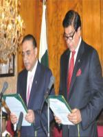 Raja Pervaiz Ashraf with President Zardari