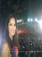 Sunny Leone at a Pune Dahi Handi Event