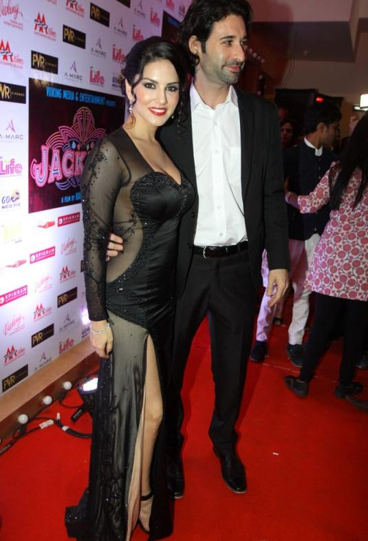 Sunny Leone her husband Daniel Weber at Jackpot screening