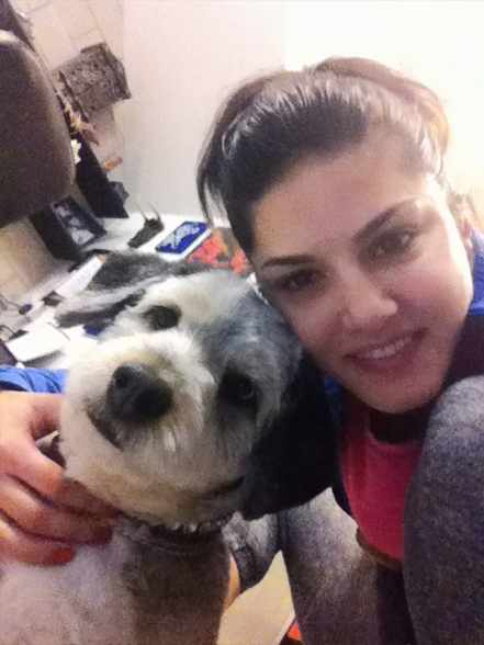 Sunny Leone with her Puppy