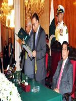 Mir Hazar Khan Khoso taking Oath