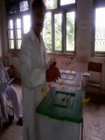 Engr. Hamid ul Haq casting his vote