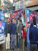 Nasir Khan Khattak durring elections