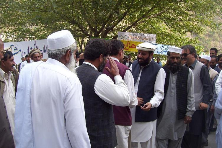 Sardar Muhammad Yousaf with local Supppoters
