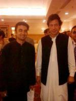 Murad Saeed with Imran Khan