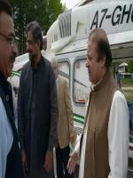 Shahid Khaqan Abbasi with Nawaz Sharif