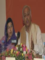 Ghulam Sarwar Khan with media