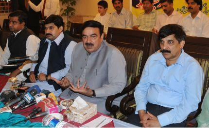 Sheikh Rashid Ahmed in press conference