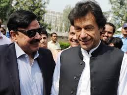 Sheikh Rashid Ahmed with Imran Khan