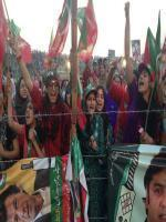 Imran Khan fans at Sialkot Jalsa