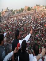 Delivering Speech at Sialkot Jalsa