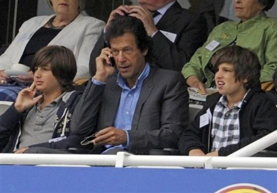 Imran Khan with his Son's in UK