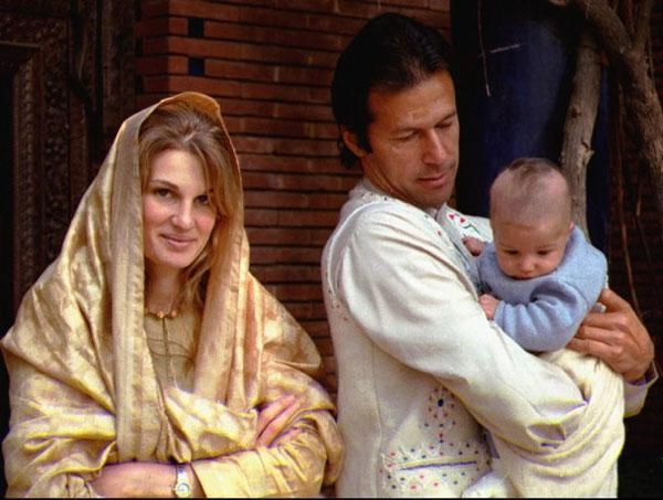 Imran Khan with wife Jamima and Son