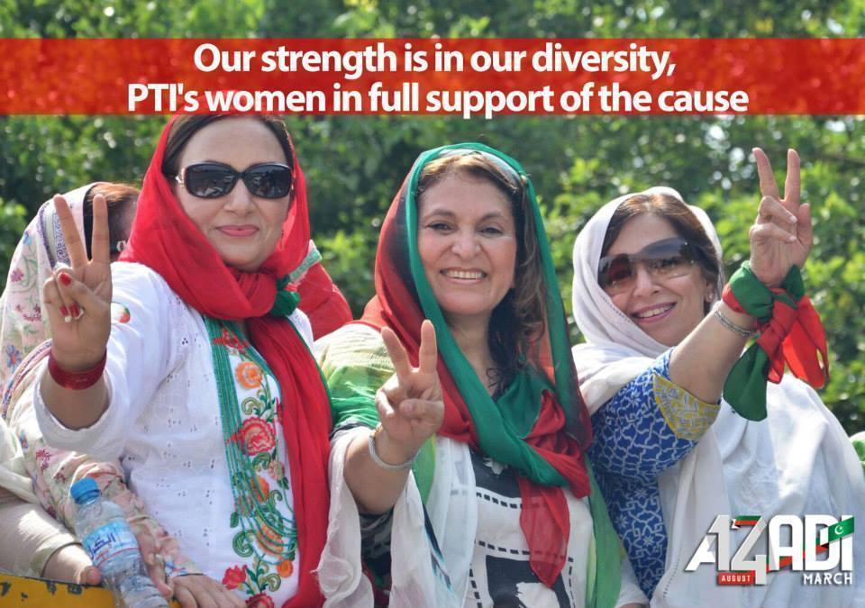 PTI Women Wing in AZADI MARCH