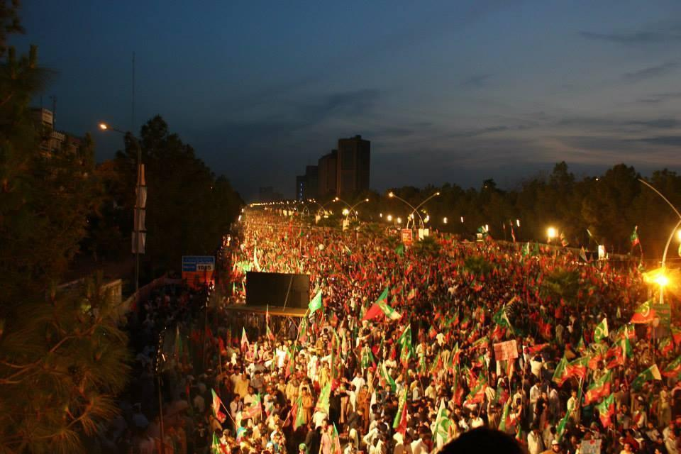 Imran Khan Tsunami In D-Chok Islamabad Photo