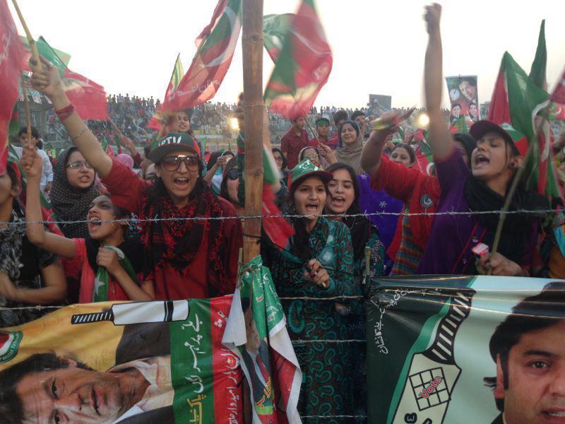 Imran Khan fans at Sialkot Jalsa