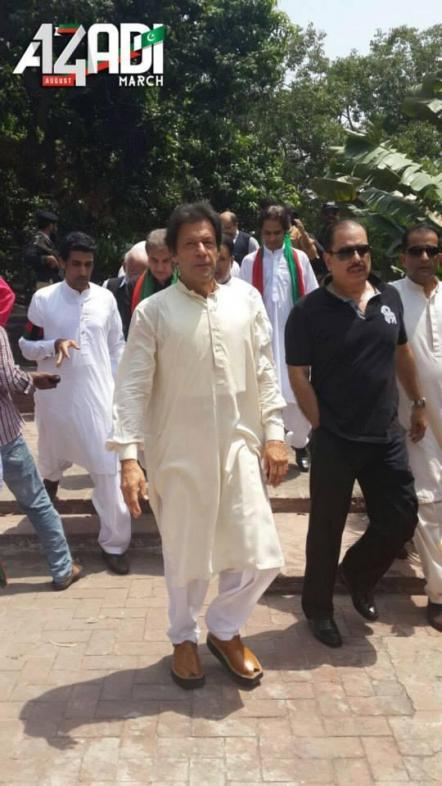 IMRAN KHAN at Azadi March