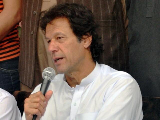 Imran khan during press conference in Peshawar
