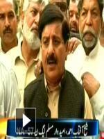 Sheikh Aftab Ahmed with media