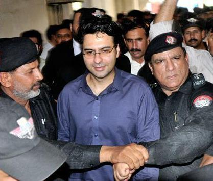 Muhammad Zain Elahi with police