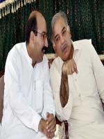Malik Shakir Bashir Awan with Shahbaz Sharif