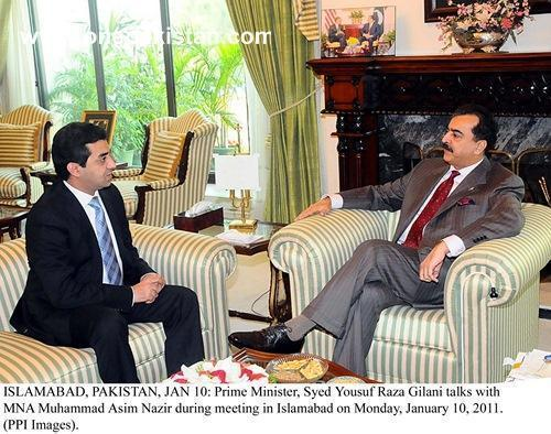 Muhammad Asim Nazir with Former Prime Minister