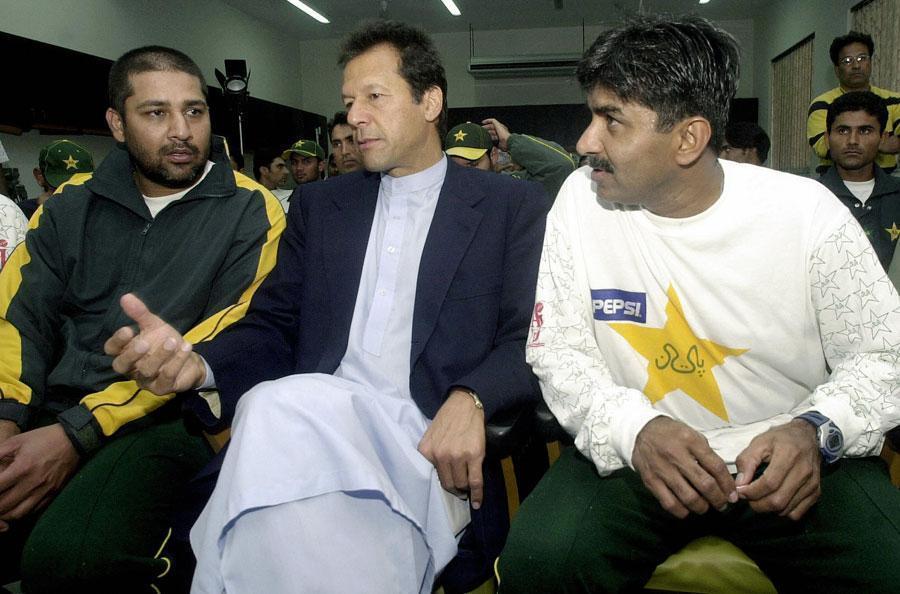 Javed Miandad with Imran and inzi