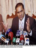 Abid Sher Ali With Media