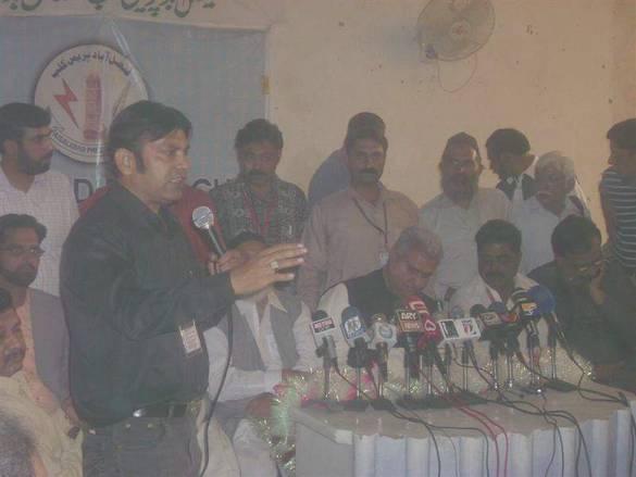 Haji Muhammad Akram Ansari in Press club