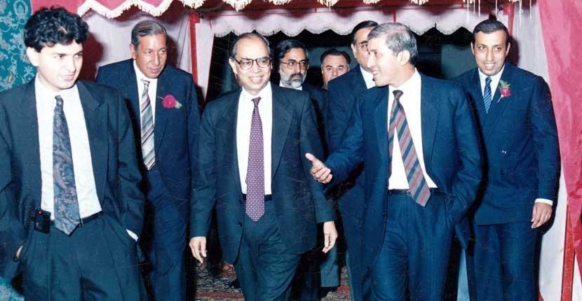 Qaiser Ahmad Sheikh with Party Members