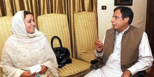 Ghulam Bibi Bharwana with Pervez Elahi