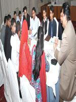 Engr Khurram Dastgir Khan with youth Parliment