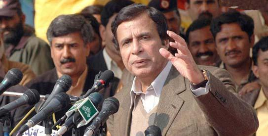 Ch. Pervaiz Ellahi with Media