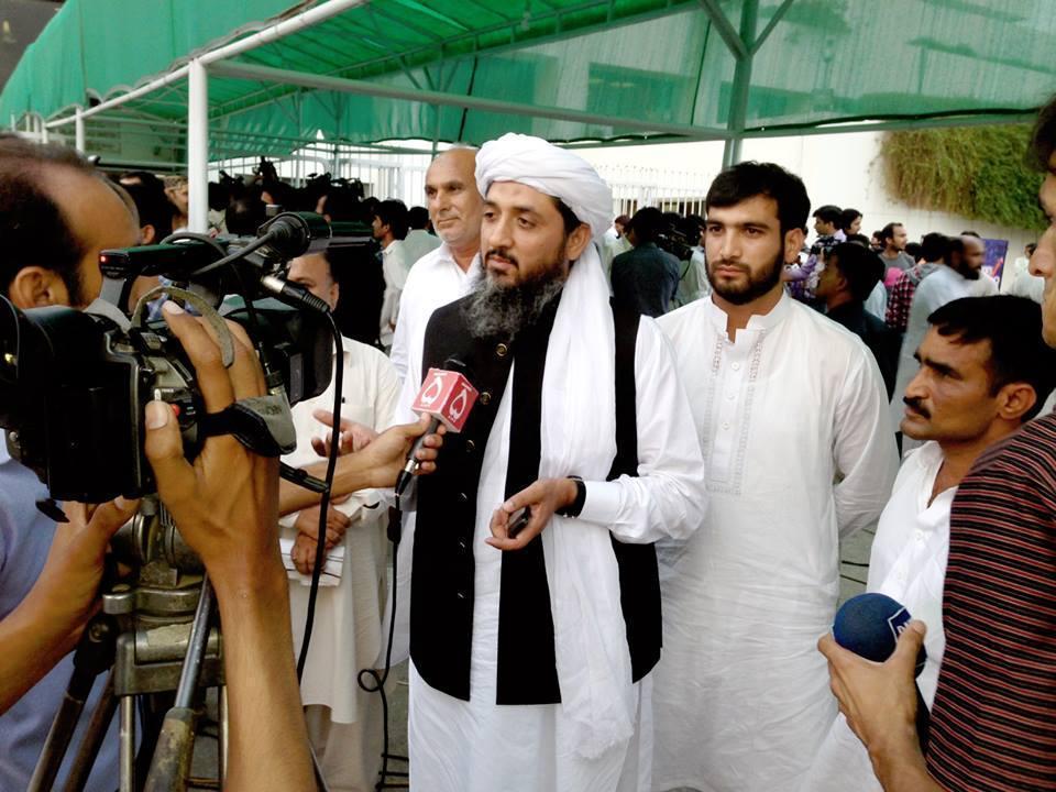 Ch. Abid Raza with Media