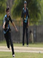 Diana Baig In Fielding at Karachi Stadium