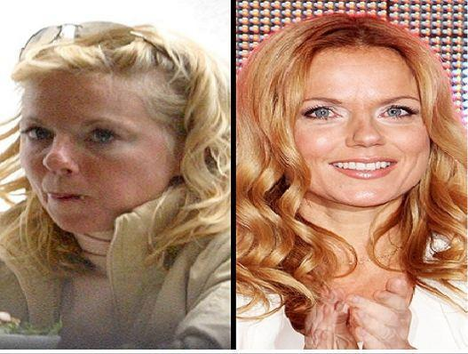 Geri Halliwell without makeup