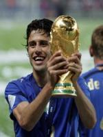 Fabio Grosso With Winning Trophy