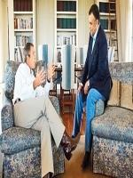 George W Bush with Prince Bandar bin Sultan Texas in 2002