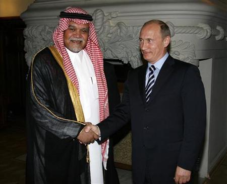 Prince Bandar bin Sultan with vladimir putin