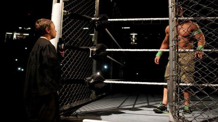Bray Wyatt defeated John Cena by escaping the cage
