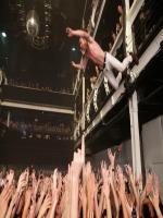 Geronimo! Matt Shultz continues his leap into the sea of fans