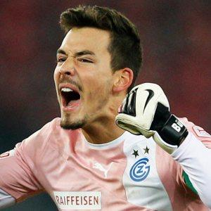 Roman Bürki after winning the match
