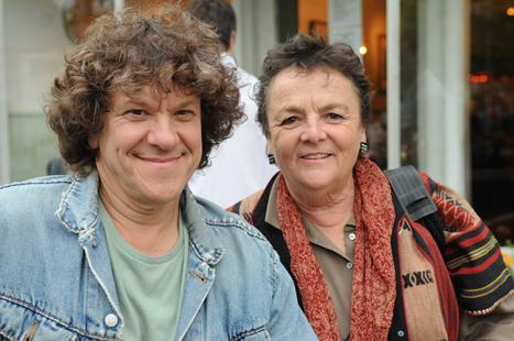 Michael Lang with her mother