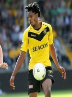 Michael Uchebo while hitting goal