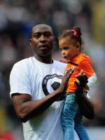 Shola Ameobi with Kid