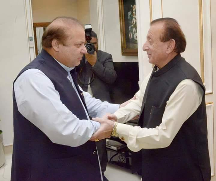 Nawaz Sharif Meet with Mir Ghazanfar ali Khan
