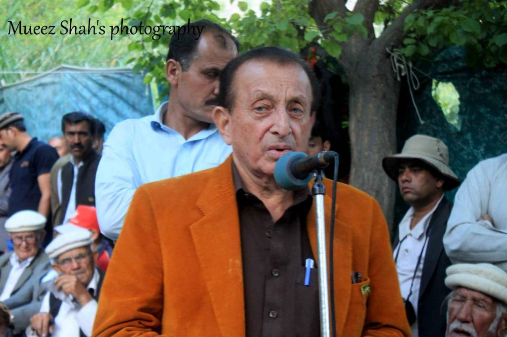 addressing to the people of hunza