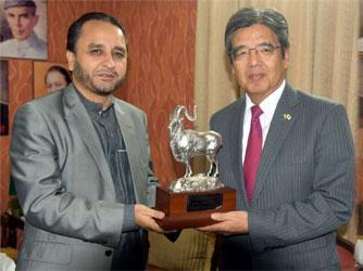 Japanese envoy discuss matters of mutual interest with CM Gilgit balti
