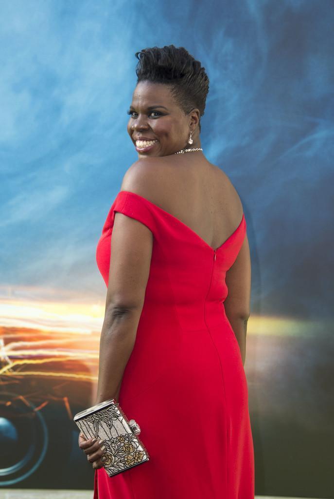 Leslie Jones in Red Dress